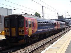 East Midlands Trains Class 153 153318 (Alex S. Transport Photography) Tags: outdoor vehicle train rail railway peterborough multiple unit eastmidlandstrains sprinter emt stagecoach class153 2k23 153318