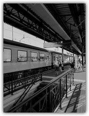 Train station (Verona) (Gluca90photo) Tags: railroad travel people urban station train photography blackwhite flickr mood outdoor streetphotography rail verona trainstation streetphoto bianconero bnw travelblog veneto eurocity binario pensilina veronaportanuova windows reflections sadness photo picture photobook inspired pic flickrphoto streetpeople