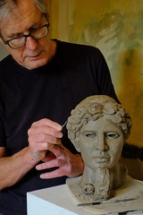 181/365 Classical (KatyMag Just me and my phone this month) Tags: sculpture classical ceramic clay environmentalportrait artistatwork reproduction art artist sculptor keithgilbertsculptor