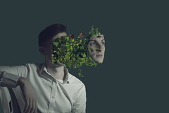 Face Off (d39rober) Tags: face vine weeds off photoshop photography specialeffects green