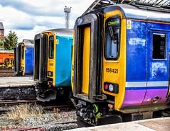 156421 @ Chester (A J transport) Tags: class156 dmu 156421 supersprinter diesel railway trains northern railways england train