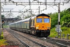 66713 @ Acton Bridge (A J transport) Tags: 66713 gbrf railfreight class66 drax biomass freight wcml forestcity diesel railway trains england