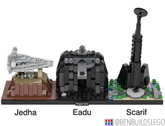 "Lego Star Wars - ""Rogue One"" Skyline MOC (2) (BenBuildsLego) Tags: star wars lego legos scarif cool brick bricklink studio eadu jedha city empire imperial death rogue one krennic darth vader design architecture skyline micro microscale"