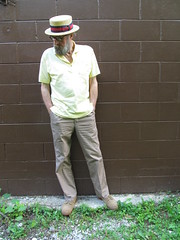 6-30-2019 Today's Clothes (Michael A2012) Tags: this mans summer style vintage fashion boater hat straw jaeger polo lands end cotton bass suede bucks