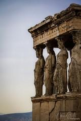 Temple of Erechtheion (corineouellet) Tags: history contrast details canonphoto travel grece greece athens athènes acropolis acropole temple monument statue