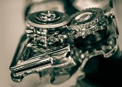 wheels in the kitchen (risaclics) Tags: macro mondays gears metal wheels 60mmmacro closeup june2019 nikond610d monochrome opener shiny macromondays