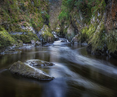 Fairy glen (paullangton) Tags: wales snowdonia landscape water river fairyglen rocks green longexposure moss gorge waterfall conwy betwsycoed nature trees lee canon enchanted