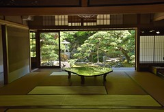 reflections #2 (snowshoe hare*) Tags: japanesegarden table reflections kyoto dsc0040 旧邸御室 京都 tatami 障子 畳 kyuteiomuro architecture 数寄屋造り