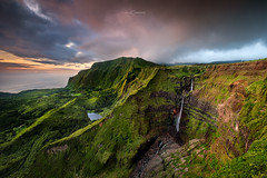 Western Plateau of Europe (CResende) Tags: azores portugal flores visitportugal landscape sunset color green vegetation forest flowers island beauty waterfalls sun clouds cresende seascape western view natural beautiful fajazinha rugged fuji fujifilm fujix