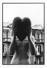 HEART (VonMurr) Tags: me boy man pole heart 90s maurycygomulicki