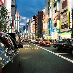 新宿夜景 (Architecamera) Tags: color film snap street shinjuku