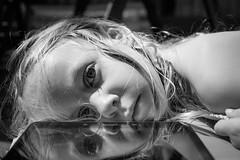 Tired reflection (Janine en Ron) Tags: sleeping summer sun playing girl childhood youth garden fun outside outdoors kid child blueeyes meisje jeugd 5yearold