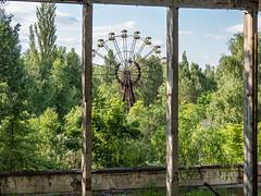 LR Chernobyl 2019-5311947 (hunbille) Tags: birgitteukraine20196lr ukraine chernobyl exclusion zone exclusionzone radiation nuclear disaster 1986 pripyat сhеrnоbуl nuсlеаr abandoned derelict palaceofculture palace culture energetik energetic gymnasium framed ferris wheel ferriswheel