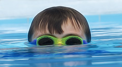 Ryland.... (Kevin Povenz Thanks for all the views and comments) Tags: 2019 june kevinpovenz westmichigan michigan grandson ryland pool water head goggles hair wethead wet blue green