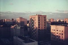 View on Gilyarovsky Street, Russia, Moscow, 1988 (Group f/64) Tags: moscow ussr sretenkast 1988 zenit12xp helios44258mmf2lens epsonv700 film orwo slide