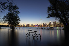 Sunset from Olympic Island (A Great Capture) Tags: olympic island flickrfriday flood park agreatcapture agc wwwagreatcapturecom adjm ash2276 ashleylduffus ald mobilejay jamesmitchell toronto on ontario canada canadian photographer northamerica torontoexplore summer summertime été sommer 2019 city downtown lights urban night dark nighttime torontoislands centreisland colours colors colourful colorful cityscape urbanscape eos digital dslr lens canon 6d mark ii ef2470mm outdoors outside darkness nocturnal illuminate lighting parc reflection mirror glass reflections lakeontario flooded longexposure torontoisland islands bike bicycle flooding water highwater skyline cntower
