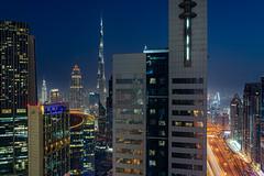 Dubai Night (Narr820) Tags: dubai vae skyline night lights street burjkhalifa burj khalifa high colourful blue orange windows city view hotel room nightscape road sheikh zayed mall hotels dark