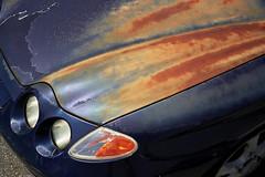 Sublime Rust (Jetcraftsofa) Tags: olympustrip35 zuiko4028 fuji pro400h 35mm filmphotography analogcamera compactcamera pointandshootcamera availablelight rust sublime subarashii machina automobile weathering oxidation patina wabisabi car