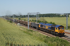 66773 29-06-19 (IanL2) Tags: gbrf class66 66773 wellingborough northamptonshire harrowdenjct railways trains mml