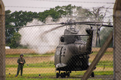 A Smokey Start (Charlie Little) Tags: carlisle airport puma helicopter military aviation cumbria nikon d7200 tamron18400mm