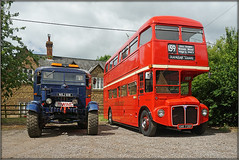 Classics on the........gravel........ (Jason 87030) Tags: preserved preservation classic vintage bus tow truck towing wheels event june village watford red routemaster scammel pioneer doubledecker attraction vehicles local 2019