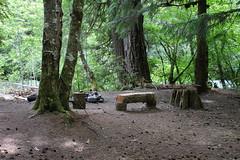 A backpacking campsite suggests a future trip here (rozoneill) Tags: mckenzie river national recreation trail bridge deer scott boulder willamette forest belknap springs oregon hiking creek