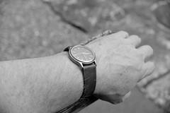 Listening_3:30 (Tony Tooth) Tags: nikon d600 nikkor 40mm dxonfx hand watch time bw blackandwhite monochrome norbury derbyshire