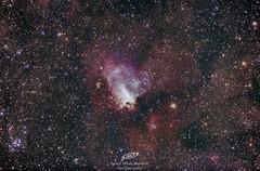 Nebulosa Omega, Messier 17, de la noche del 02-06-2019 (gerardtartalo) Tags: nebula stars cosmos space universe skywatcher sky nightsky canon orion zwo baader
