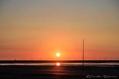 Sonnenuntergang am Strand von Borkum (Re Ca) Tags: beach borkum insel niedersachsen nordsee nordseeinsel strand travel traveling urlaub wattenmeer sonnenuntergang sunset goldenhour goldenestunde
