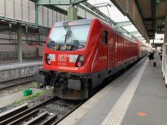 147003 Stuttgart Hbf 26/6/2019 (Martin Coles) Tags: trains train rail railways railway iphone stuttgarthbf db 147003 traxx class147