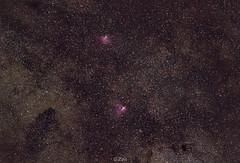 22.6.2019 Eagle & Omega nebulae (George Zois) Tags: astrophotography nikon d3300 dx samyang135mm skywatcher