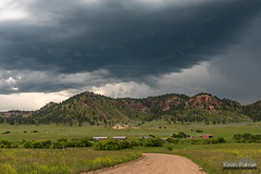 Trail Creek Road (kevin-palmer) Tags: june summer evening storm stormy thunderstorm severe weather sky clouds montana busby northerncheyennereservation unpaved road green grass rosebudmountains supercell nikond750 tamron2470mmf28