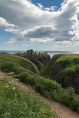 Dunnottar Castle (MilesGrayPhotography (AnimalsBeforeHumans)) Tags: sonyfe2470f4zaoss stonehaven britain castle dunnottarcastle cliffs northeast fortress northsea historicscotland historic iconic landscapephotography scottishlandscapephotography landscape cloudy nd formatthitech nature outdoors old photo photography portrait summer scottish scotland ruins sonya7rii sony a7rii sonyilce7rm2 ilce7rm2 uk unitedkingdom zeiss