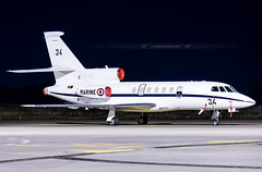 SXB ➡️ F-ZWMT/134 Falcon 50 French Navy (Stephane GolfTraveller) Tags: strasbourg entzheim lfst sxb aeroport airport planespotting ©stephanegolftraveller nightshot long exposure falcon fa50 frenchnavy marine government canon airliners night navy fzwmt 134