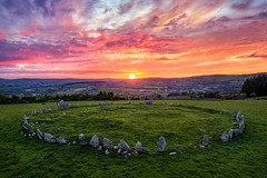"""""""Beltany Stone Circle - Donegal"""" (Gareth Wray - 13 Million Views, Thank You) Tags: ancient pagan druid druids stone circle standing stones worship monument monuments raphoe county donegal ireland landscape tourist tourism site visit scenic landmark sun set sunset red blue sky summer country side countryside lens gareth wray photography irish eire granite field national trust colourful clear day historic famous attraction photographer pro vacation europe neolithic bronze age outdoor grass dji phantom p4p drone aerial celtic architecture plant quadcopter four cloudscape 2019"""