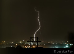 June 28, 2019 - A bolt in the nighttime sky. (Jessica Fey)