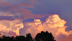 Just Some Clouds at Sunset (blazer8696) Tags: 2019 brookfield ct connecticut ecw fporch hdr img036012painterly5 obtusehill t2019 usa unitedstates cloud clouds sunset