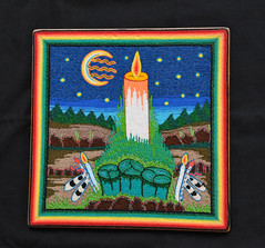 Peyote Ceremony Yarn Painting Huichol (Teyacapan) Tags: peyote ceremony huichol mexico religion crafts artesanias folkart yarnpaintings