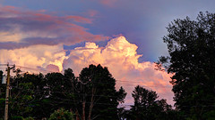 Just Some Clouds at Sunset (blazer8696) Tags: 2019 brookfield ct connecticut ecw fporch hdr img035789painterly5 obtusehill t2019 usa unitedstates cloud clouds sunset
