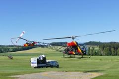 Westland Bell 47 G-3 B1 Helicopter HB-ZBF Beromünster Airport Switzerland 2019 (roli_b) Tags: westland bell 47 g3 b1 helicopter helikopter heli hubschrauber hbzbf vtol beromünster flugplatz flüügerchilbi airport schweiz suisse switzerland suiza sivzzera aviation 2019