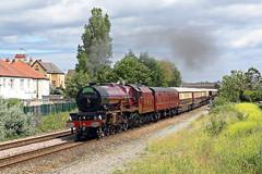 '6201' Rhyl 30th June 2019 (John Eyres) Tags: 6201 princess elizabeth hauling rolex express rhyl 1z62 1108 crewe holyhead 300619