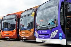 Enviros..... (stavioni) Tags: reading buses adl alexander dennis enviro 300 single decker bus transport courtney kx64ael 200 tiger 414 bronze 419 yr13pmv
