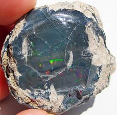Black precious opal (Tertiary; Wollo Province, Ethiopia) 4