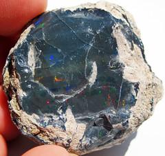 Black precious opal (Tertiary; Wollo Province, Ethiopia) 3