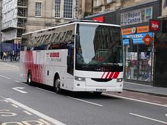 Edinburgh Coach Lines Van Hool EX15H YJ18AYA, in Globus Tours livery, at South Bridge, Edinburgh, on 25 June 2019. (Robin Dickson 1) Tags: edinburghbuses globustours edinburghcoachlines vanhoolex15h yj18aya