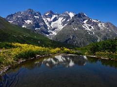 La Meije (French Alps) (Faapuroa) Tags: montagne mountain mount alpes alps reflet reflexion lautaret france water eau lac étang lake nikon p1000 coolpix