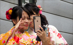 `2670 (roll the dice) Tags: japan japanese steetphotography couple people fashion sexy girls colour pretty eyes face camera mobile phone selfie cute unaware unknown portrait strangers candid 着物 八坂神社 京都 kawaii unesco hot sunny shrine gaes buddhist yasakashrine shijōdōri culture maruyamapark slopes fingers surreal mad fun funny flowers iphone asian shinto reaction happy smile