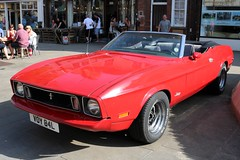 Ford Mustang (R.K.C. Photography) Tags: fordmustang classic american musclecar 1972 voy84l convertible car red letchworth hertfordshire england unitedkingdom uk canoneos750d letchworthgardencity