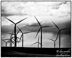 Tangled Turbines (zen3d ☯) Tags: turbine turbines windturbines windturbine clouds tunderclouds monochrome bw blackandwhite