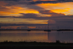 Another Sunday sunrise (mimsjodi) Tags: sunrise water sky clouds boats sailboats indianriverlagoon titusvillefl